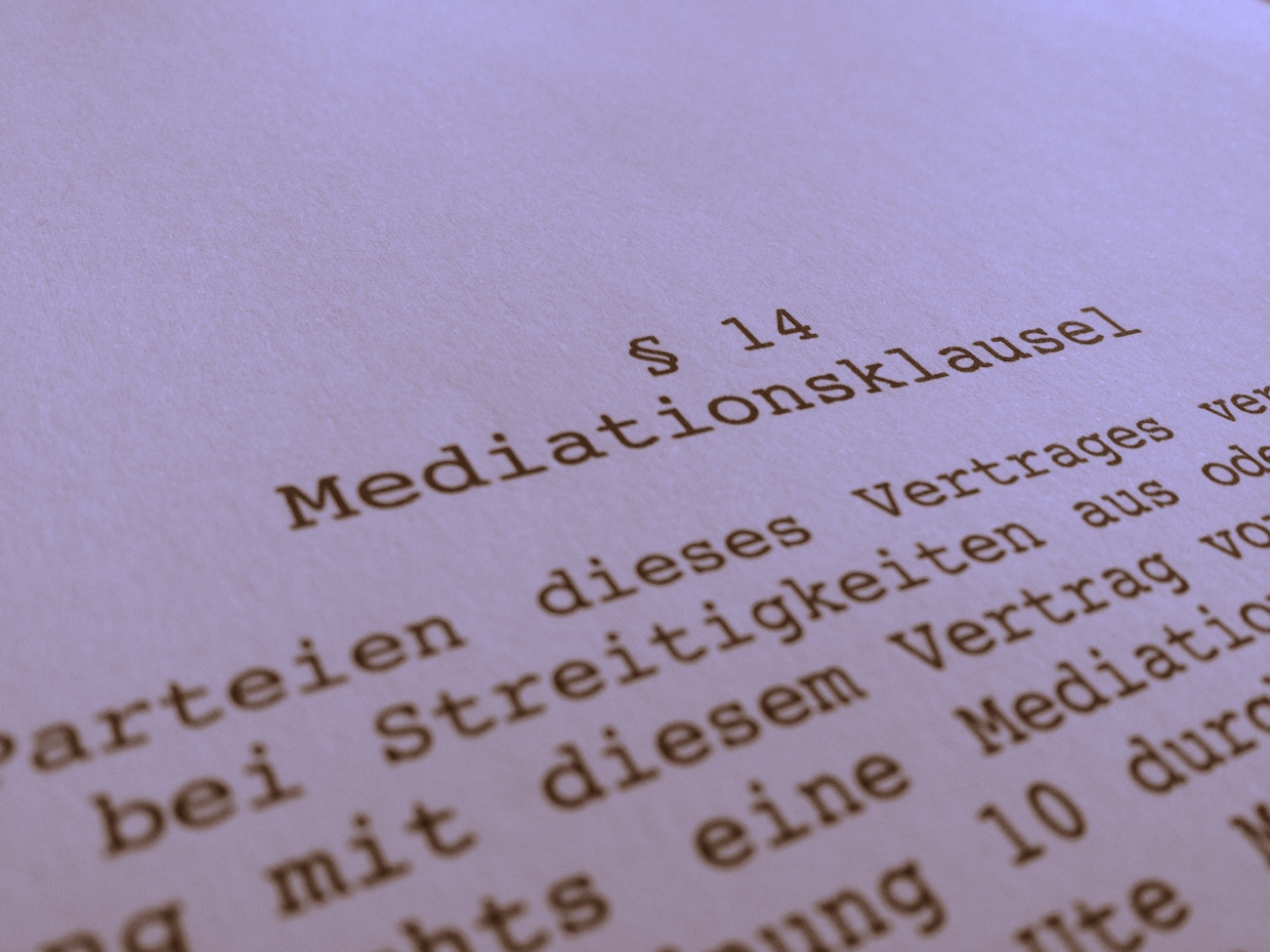 Mediationsklausel Praxisnahe Musterklausel Für Verträge